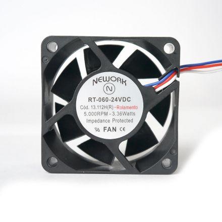 Miniventilador Código 13.112 HR Dimensão (mm) 60X60X25 24 VDC