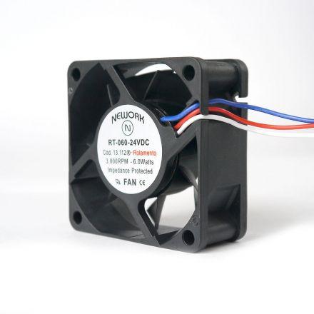 Miniventilador Código 13.112 R Dimensão (mm) 60X60X25 24 VDC