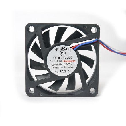Miniventilador Código 13.116 Dimensão (mm) 60X60X10 12 VDC
