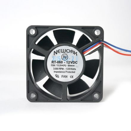 Miniventilador Nework 60X60X20 12 VDC  Código 13.204 R