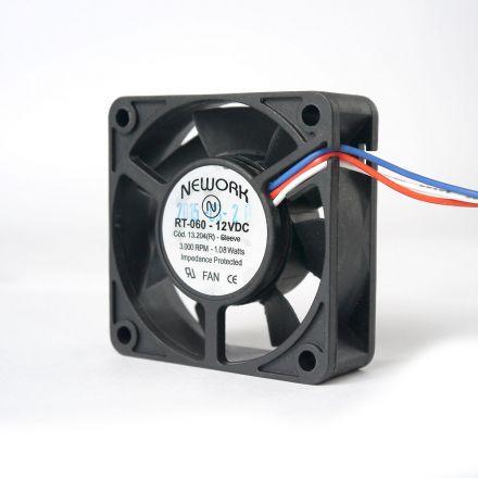 Miniventilador Código 13.204 R Dimensão (mm) 60X60X20 12 VDC