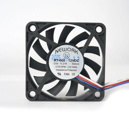 Miniventilador Nework 60X60X10 12 VDC  Código 13.216