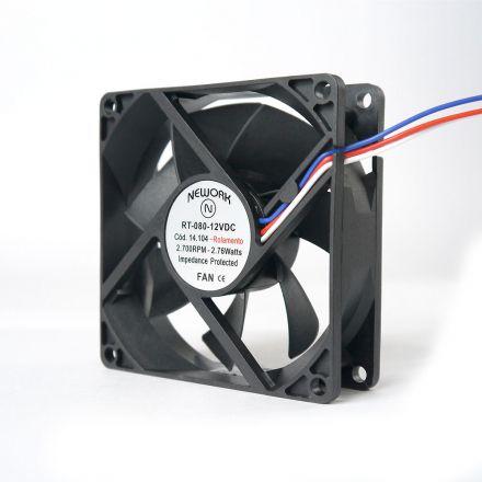 Miniventilador Código 14.104 Dimensão (mm) 80X80X25 12 VDC