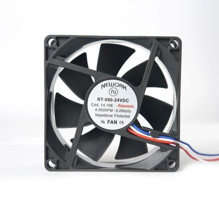 Miniventilador Nework 80X80X25 24 VDC Código 14.106