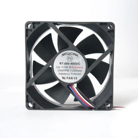 Miniventilador Código 14.108 R Dimensão (mm) 80X80X25 48 VDC