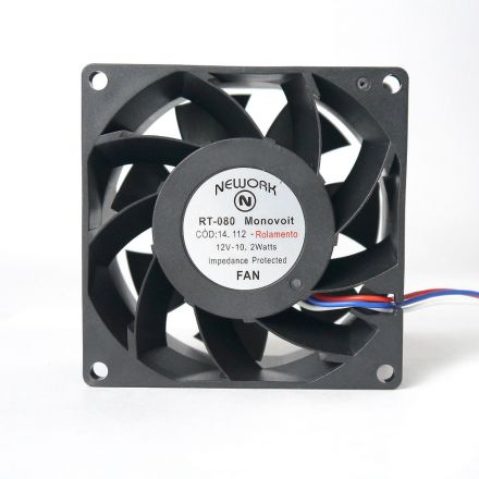 Miniventilador Nework 80X80X38 12 VDC Código 14.112