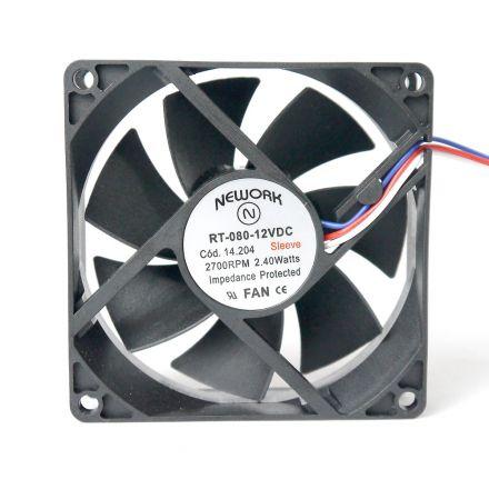 Miniventilador Nework 80X80X25 12 VDC  Código 14.204