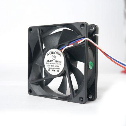 Miniventilador Código 14.204 R Dimensão (mm) 80X80X25 12 VDC