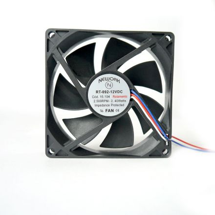 Miniventilador Código 15.104 Dimensão (mm) 92X92X25 12 VDC