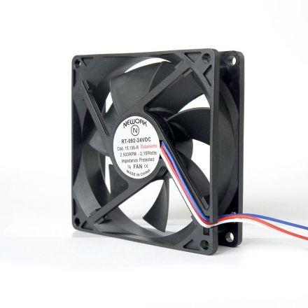 Miniventilador Código 15.106 R Dimensão (mm) 92X92X25 24 VDC