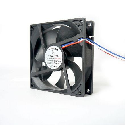 Miniventilador Código 15.104 HH  Dimensão (mm) 92X92X25 12 VDC