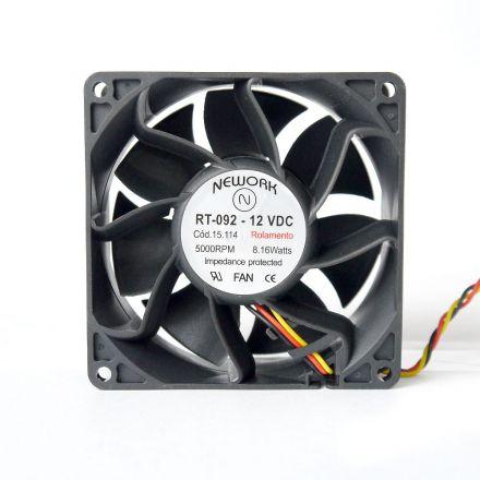 Miniventilador Código 15.114 Dimensão (mm) 92X92X38 12 VDC