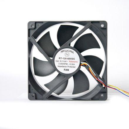 Miniventilador Código 16.114 H Dimensão (mm) 120X120X25  48 VDC