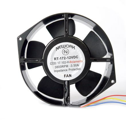 Miniventilador Nework 172X150X55 12VDC Código 17.102 H