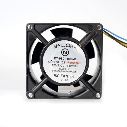 Miniventilador Nework 80X80X38 Bivolt Código 51.102