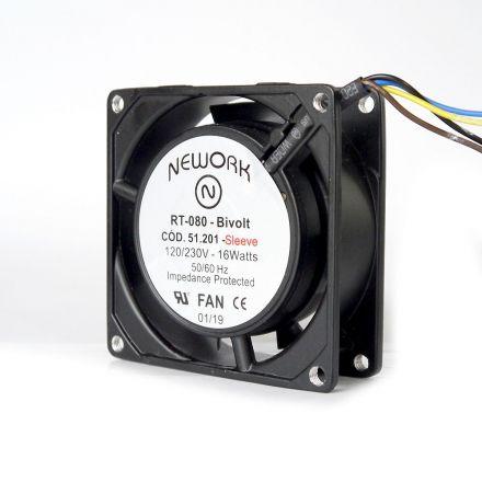 Miniventilador Nework 80X80X25 Bivolt Código 51.201
