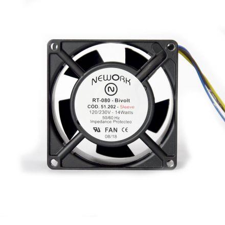 Miniventilador Nework 80X80X38 Bivolt Código 51.202