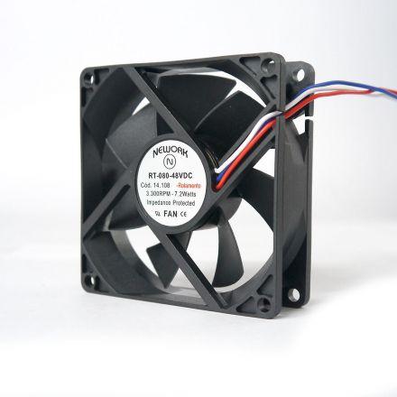 Miniventilador Código 14.108 Dimensão (mm) 80X80X25 48 VDC