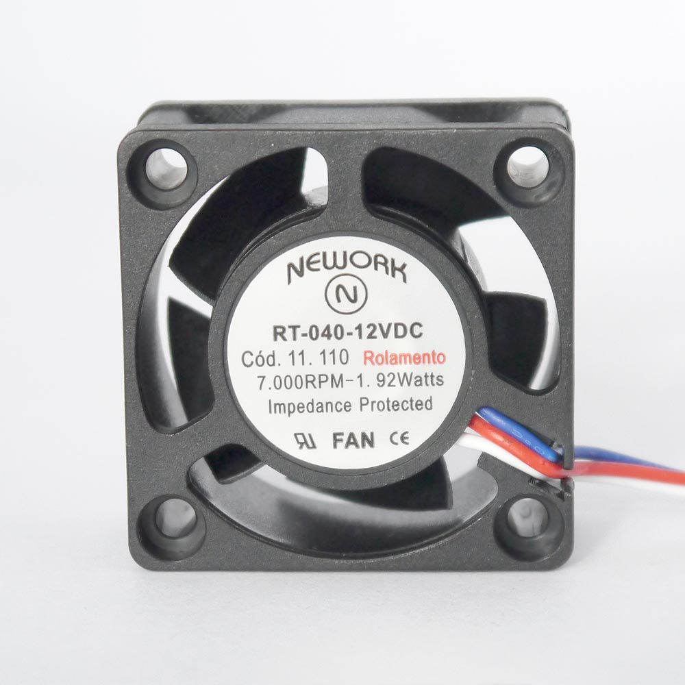 Miniventilador Nework 40X40X20 12VDC Código 11.110
