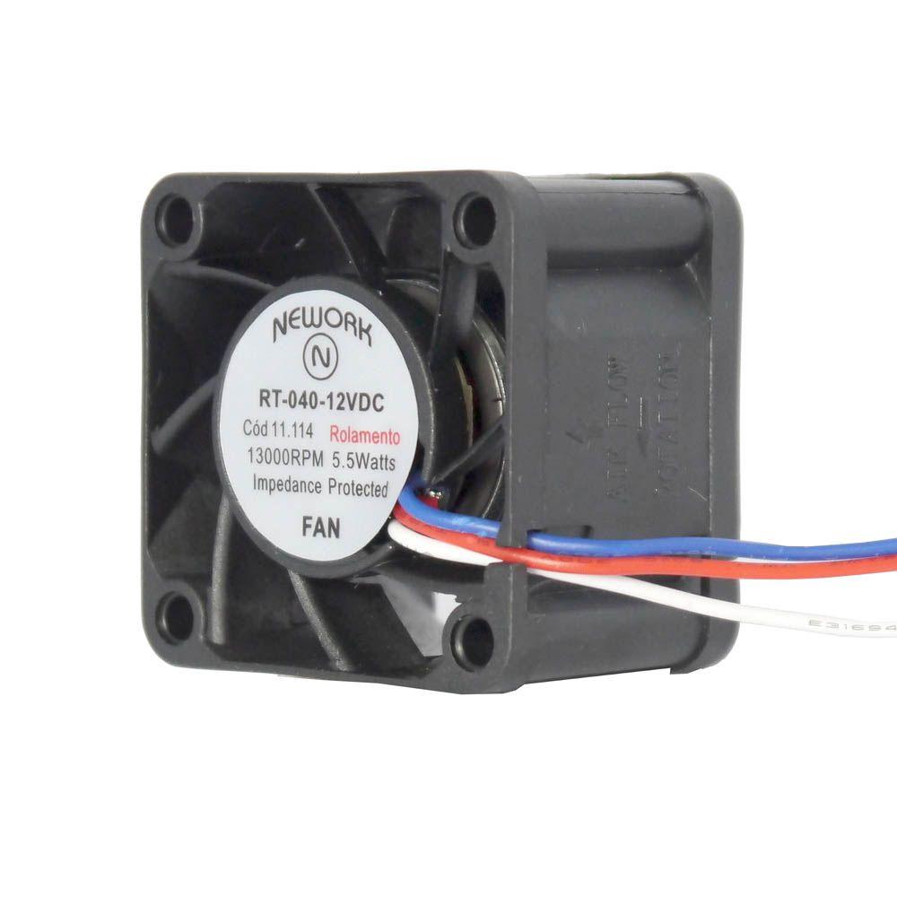 Miniventilador Nework 40X40X28 12VDC  Código 11.114