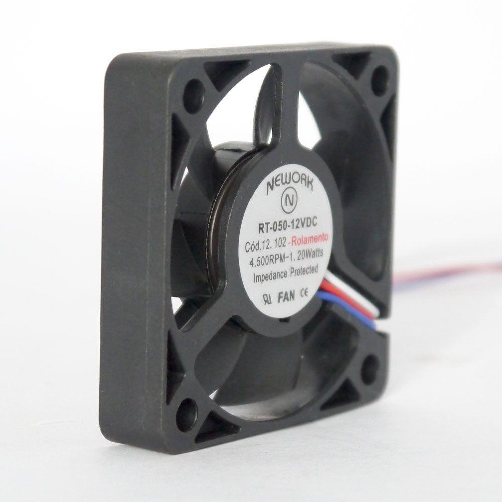 Miniventilador Código 12.102 Dimensão(mm) 50X50X10 12VDC