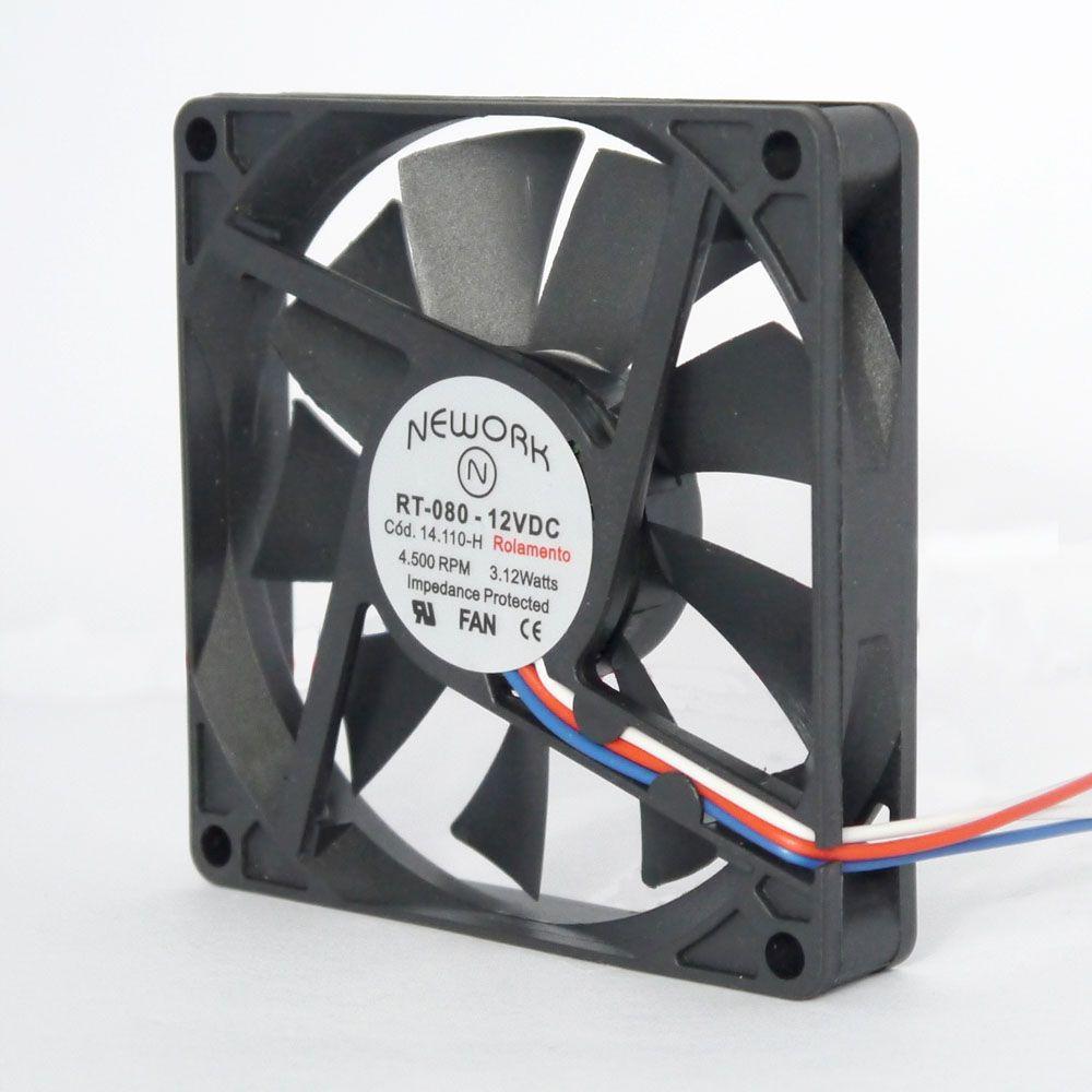 Miniventilador Código 14.110-H Dimensão(mm) 80X80X15 12VDC