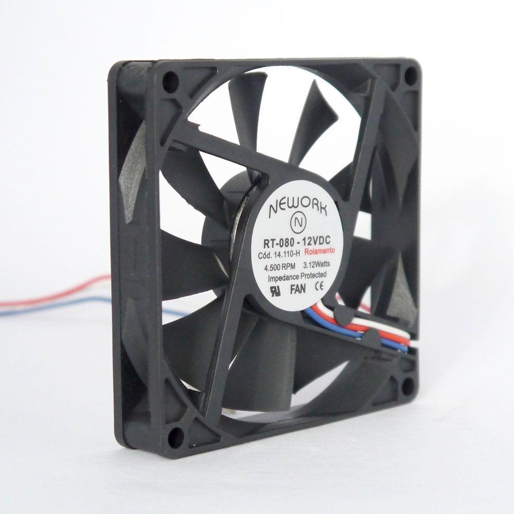 Miniventilador Nework 80X80X15 12VDC Código 14.110 H