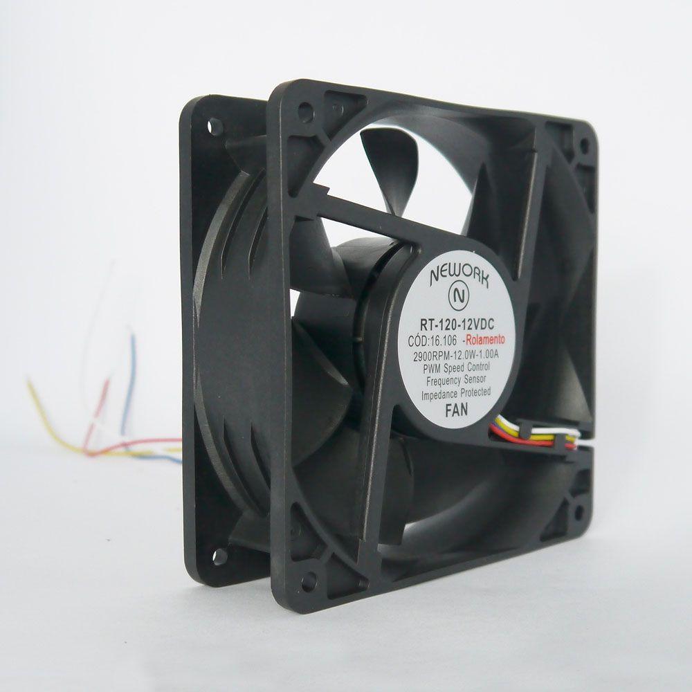 Miniventilador Nework 120X120X38 12VDC Código 16.106