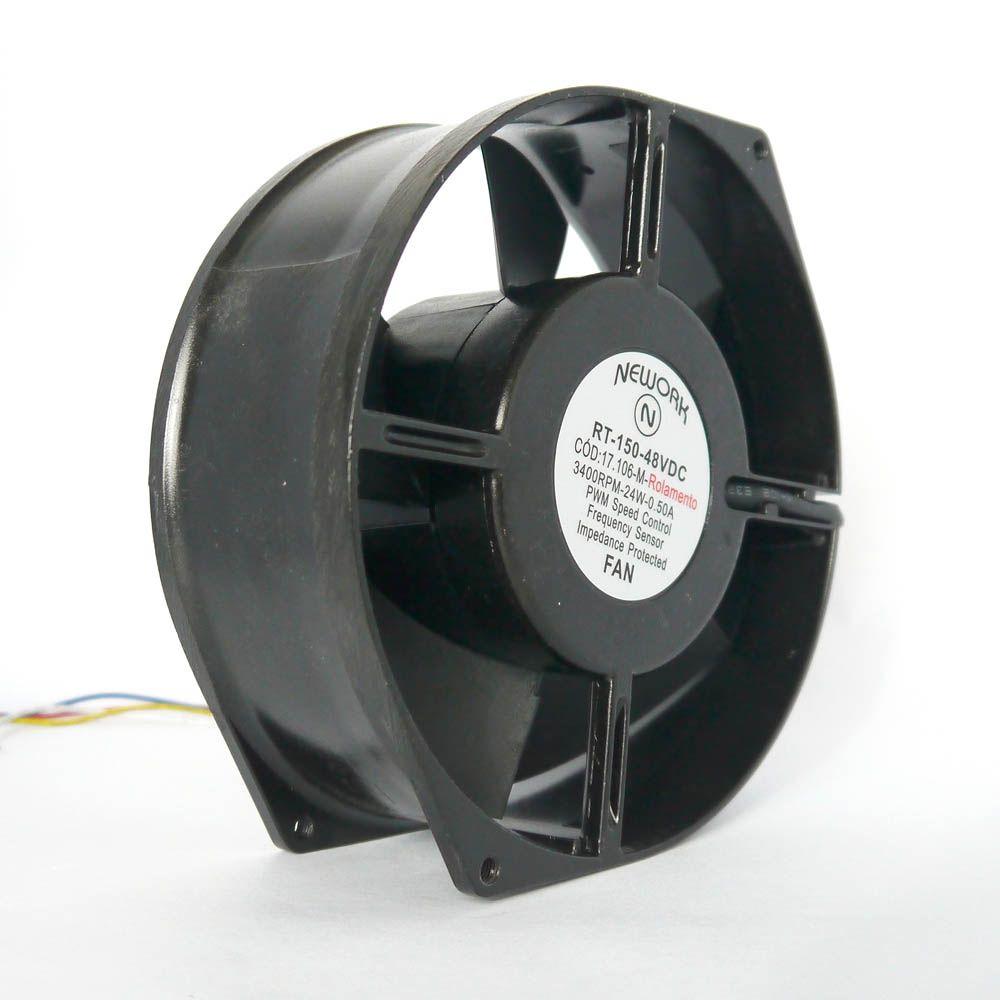 Miniventilador Código 17.106-M Dimensão(mm) 172X150X55 48VDC
