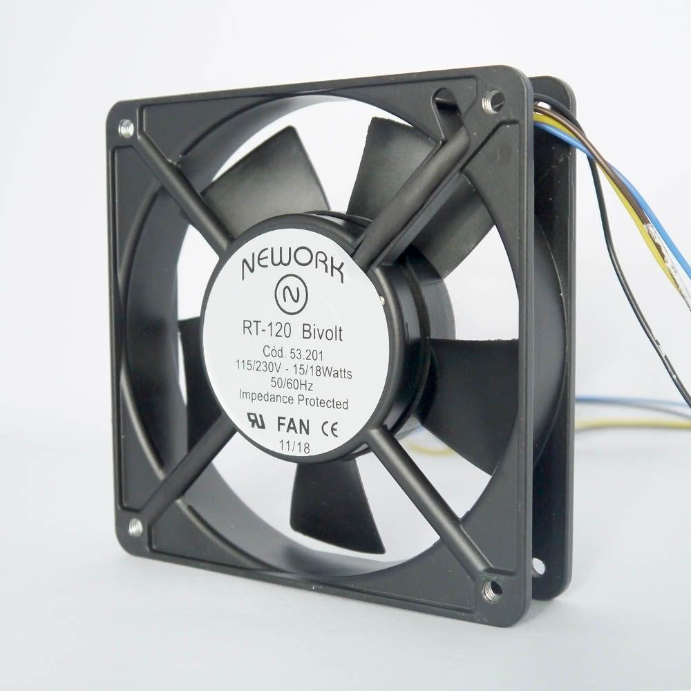 Miniventilador Código 53.201 Dimensão(mm) 120X120X25 Bivolt
