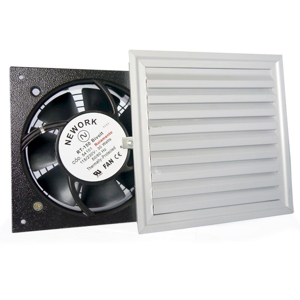 Conjunto de Ventilação Código 6612-A Dimensão(mm) 190X190 c/ Tela de Alumínio
