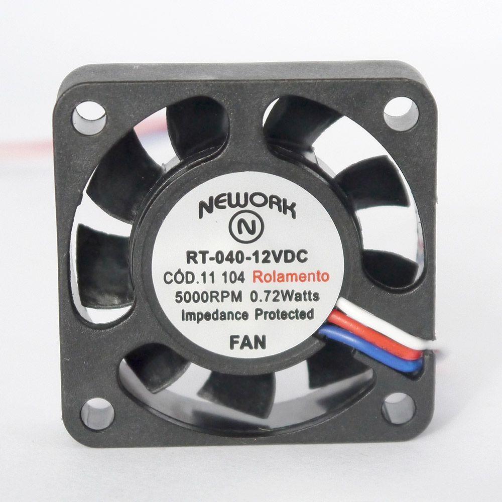 Miniventilador Nework 40X40X10 12VDC Código 11.104