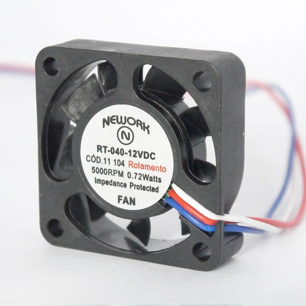 Miniventilador Código 11.104- Dimensão(mm)-40X40X10 12VDC