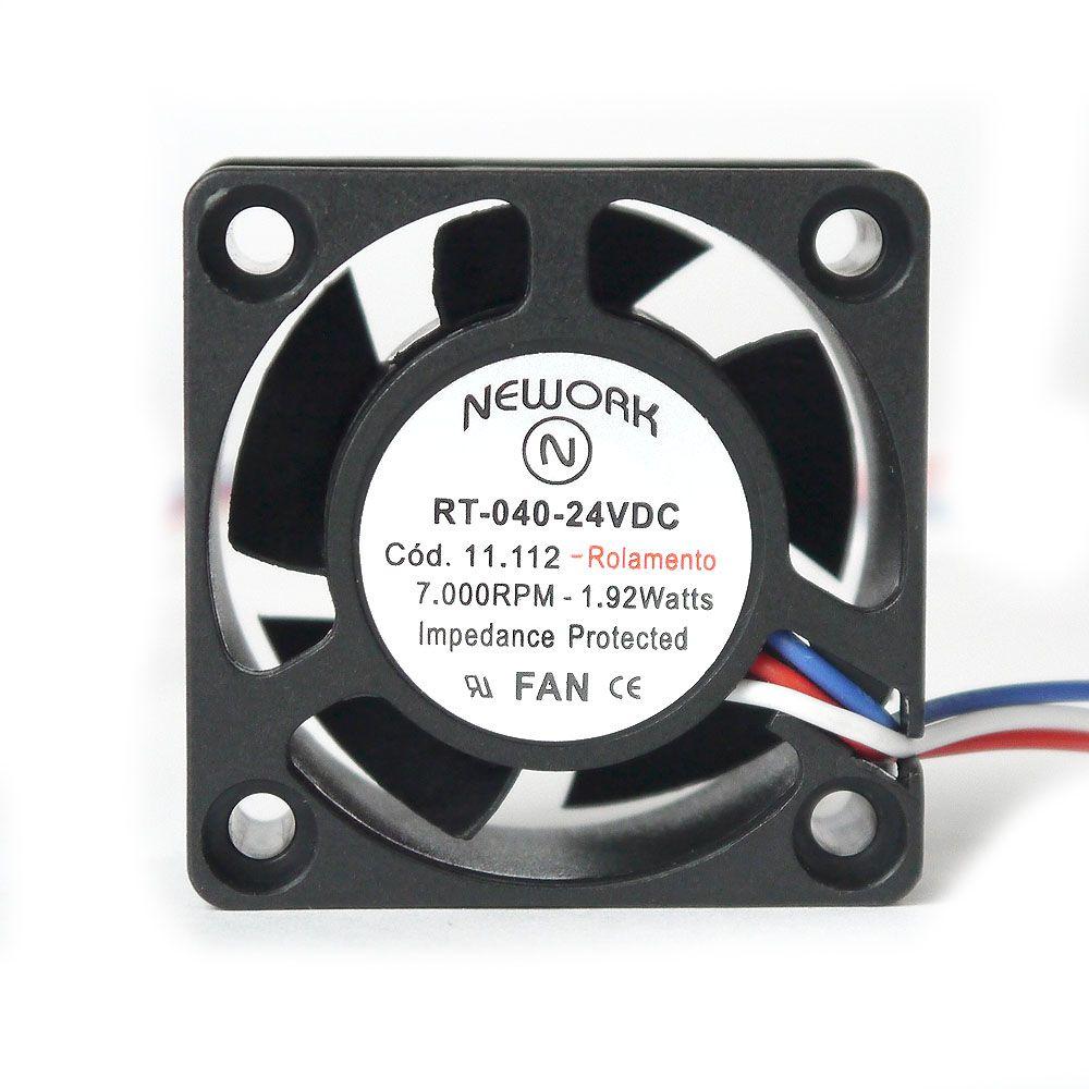 Miniventilador Nework 40X40X20 24VDC Código 11.112