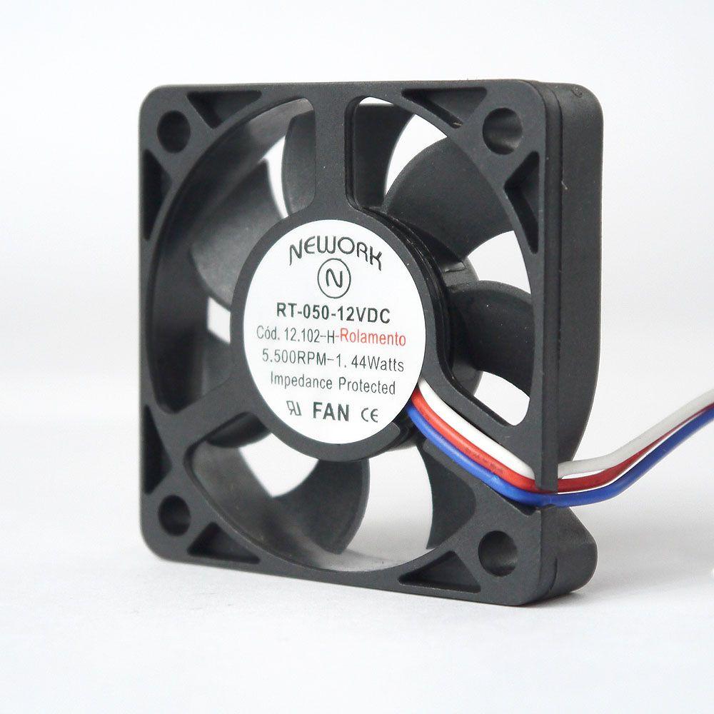 Miniventilador Código 12.102-H Dimensão(mm) 50X50X10 12VDC
