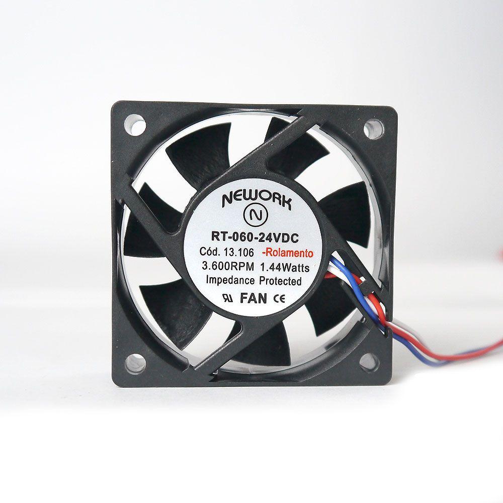 Miniventilador Código 13.106 Dimensão (mm) 60X60X20 24 VDC