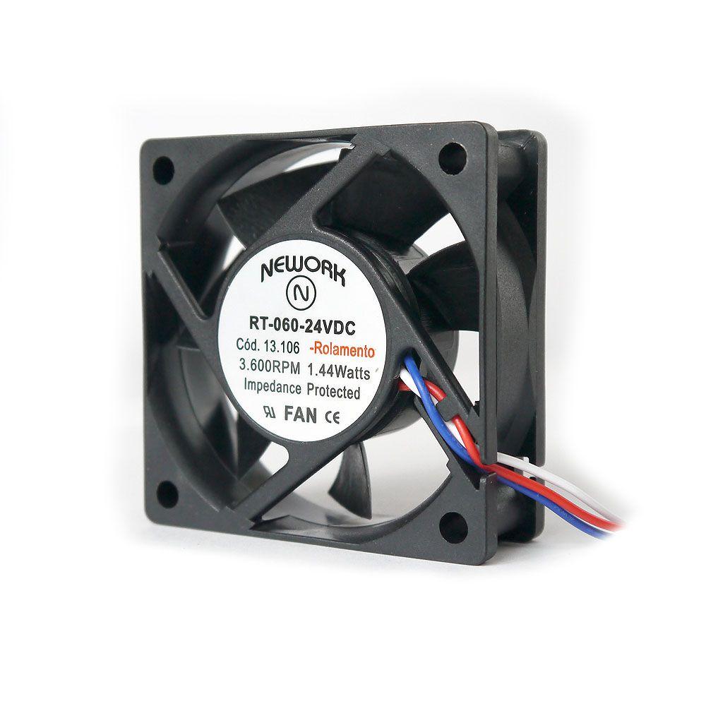 Miniventilador Nework 60X60X20 24 VDC Código 13.106