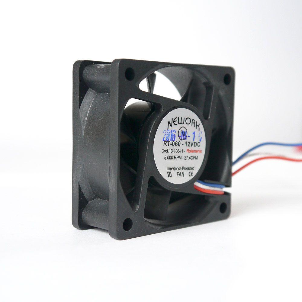 Miniventilador Nework 60X60X25 12 VDC Código 13.108 H