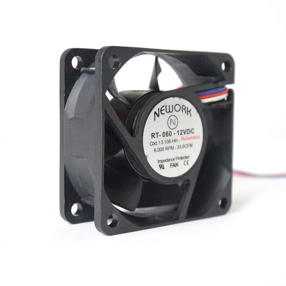 Miniventilador Nework 60X60X25 12 VDC Código 13.108 HH