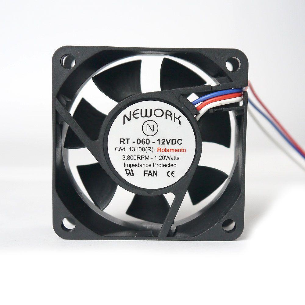 Miniventilador Nework 60X60X25 12 VDC Código 13.108 R