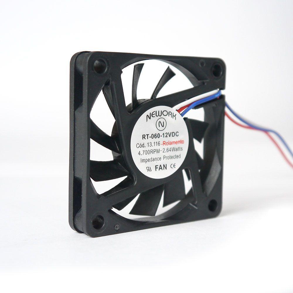 Miniventilador Nework 60X60X10 12 VDC  Código 13.116
