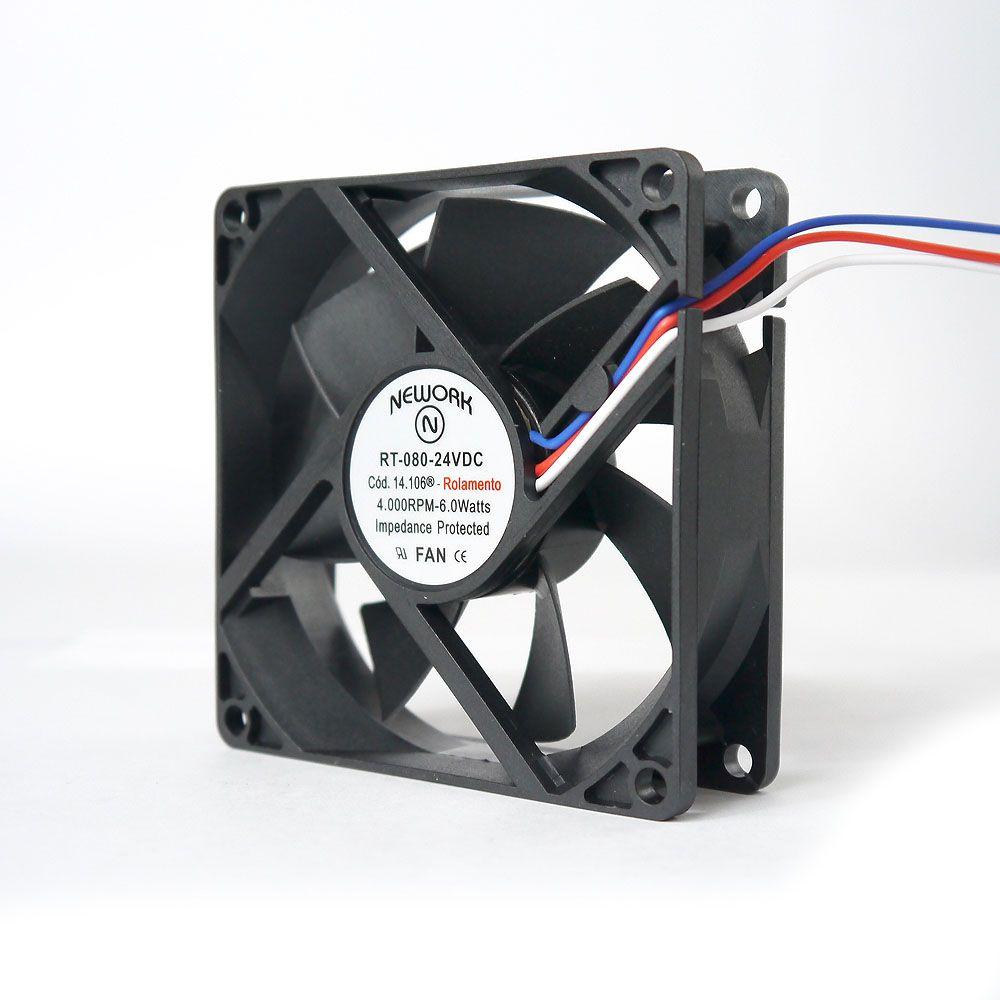 Miniventilador Nework 80X80X25 24 VDC Código 14.106 R