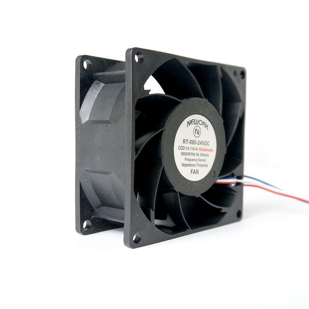 Miniventilador Nework 80X80X38 24 VDC Código 14.114 H
