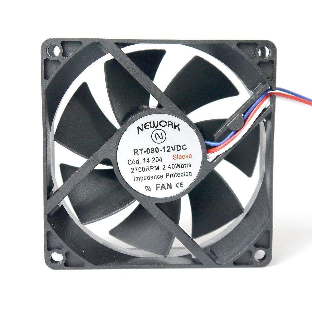 Miniventilador Código 14.204 Dimensão (mm) 80X80X25 12 VDC