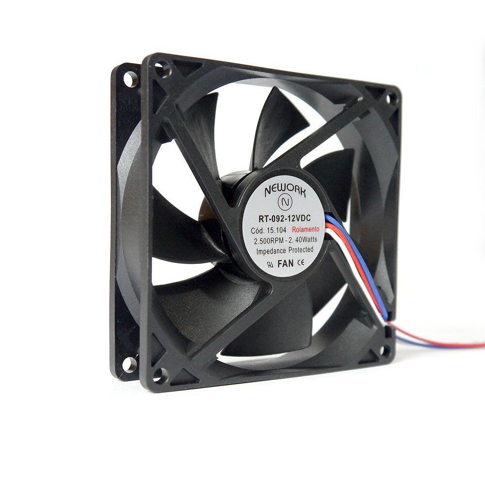 Miniventilador Nework 92X92X25 12 VDC Código 15.104