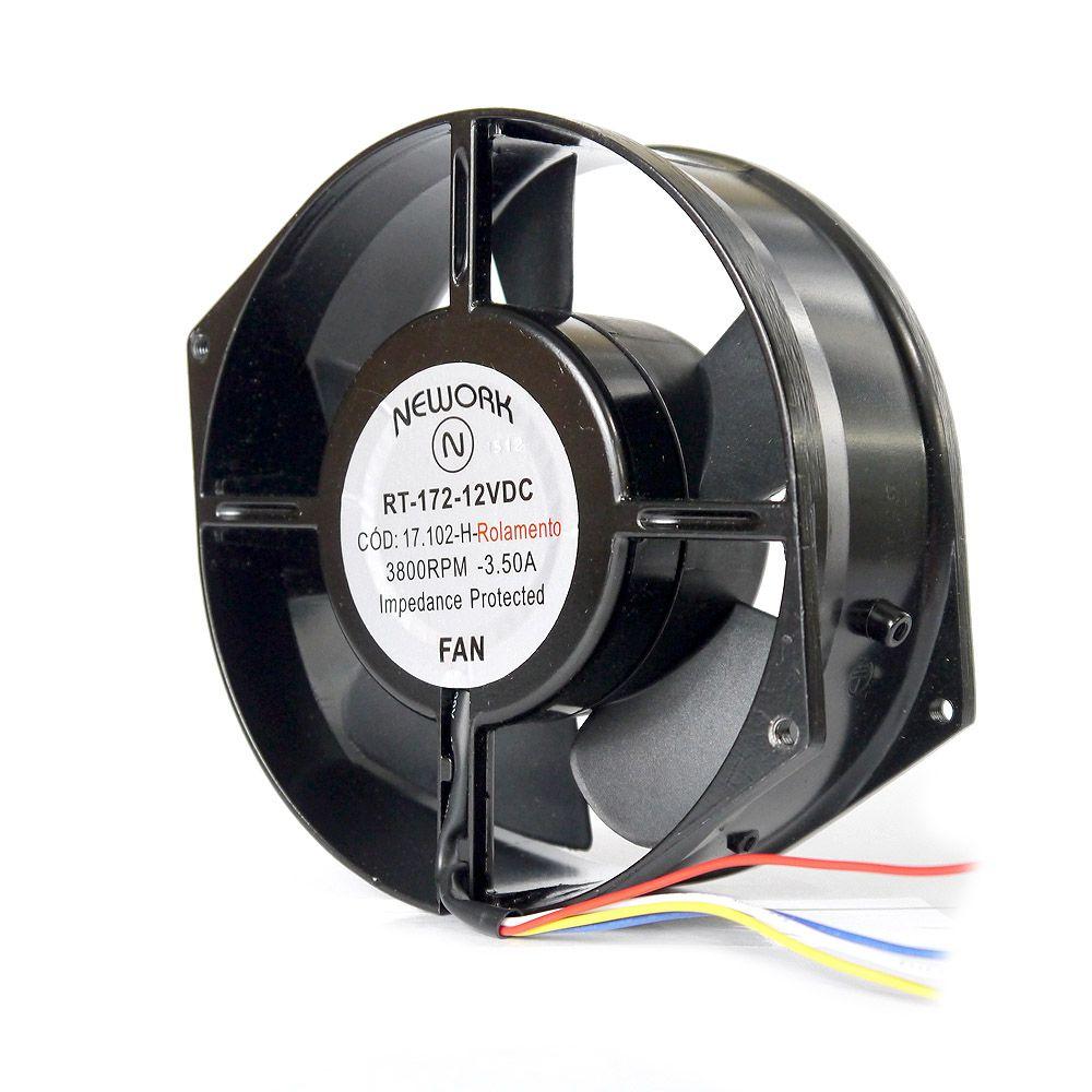 Miniventilador Código 17.102 H Dimensão (mm) 172X150X55 12 VDC