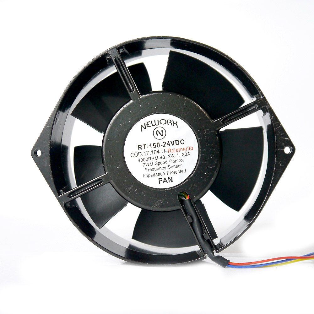 Miniventilador Código 17.104 H Dimensão (mm) 172X150X55 24 VDC