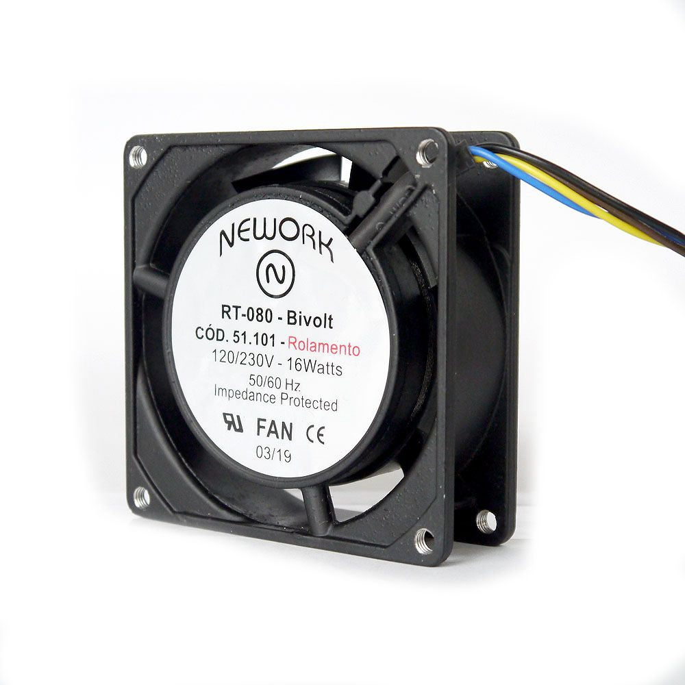 Miniventilador Nework 80X80X25 Bivolt Código 51.101