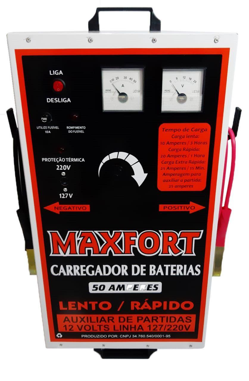 Carregador de Bateria 50/a 12 v (1 relógio) MX1 MAXFORT