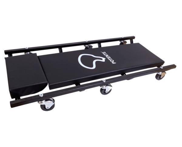 Carro  Deitante  Esteira Para Mecânico com Encosto e 6 Rodízios Giratórios  CAR05MPI2 Potente Brasil